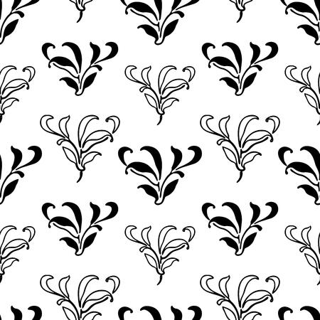 Vector Pattern Of Decorative Floral Elements Lizenzfrei Nutzbare
