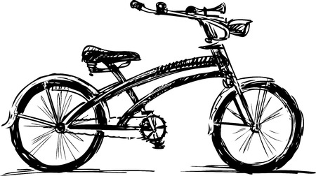 A sketch of a bike for a stroll