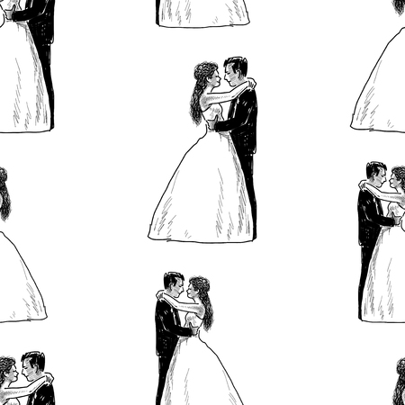 Background of happy newlyweds