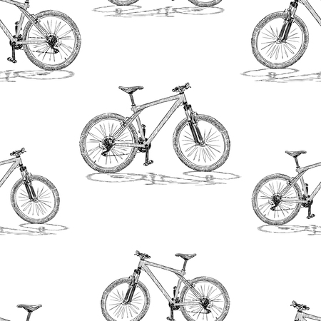 Background of sketches of bicycles