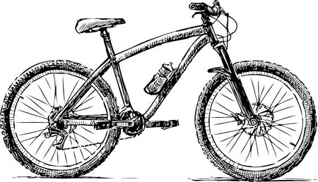 A sketch of a bike for strolls