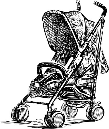 Sketch of baby carriage for strolls