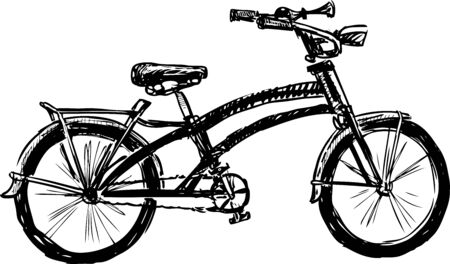 Sketch of urban bicycle for active walks