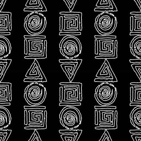 Seamless background of outlines abstract geometric elements Illusztráció
