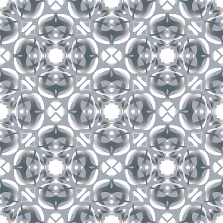 Seamless vector pattern of abstract geometric elements
