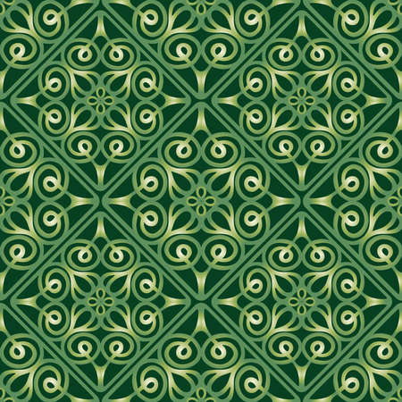 Seamless abstract pattern of ornamental design elements
