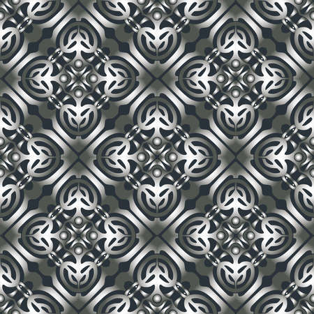 Seamless pattern of abstract geometric decorative elements Vectores