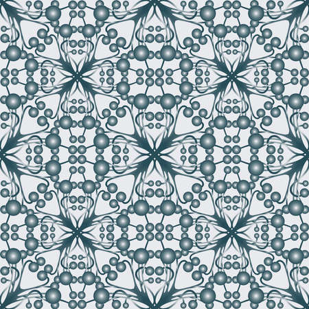 Seamless pattern of abstract geometric design elements