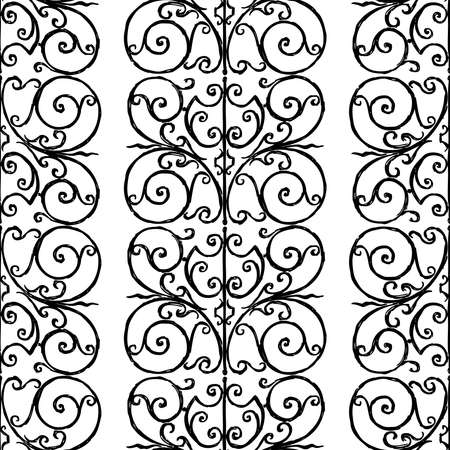 Seamless background of outlines ornamental vintage tracery