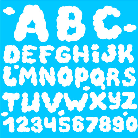 cloud: Cloud abc. Cloud font