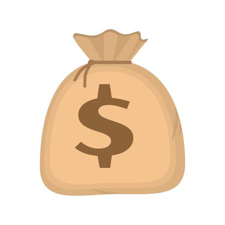 simbol: Sacchetto dei soldi con il dollaro simbolo