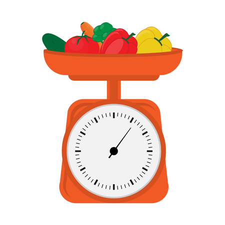 Scales with vegetables Illustration