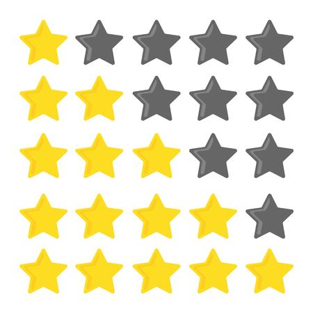 estimation: 5 stars rating set