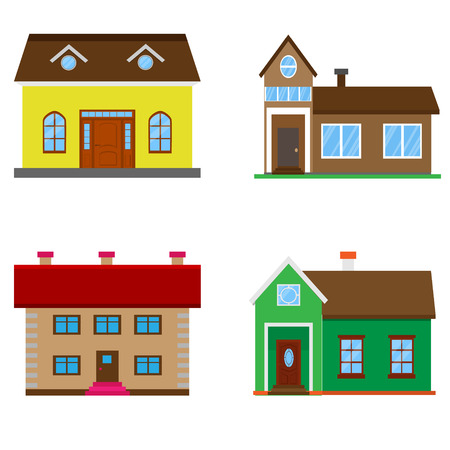 lighthearted: Colorful house set