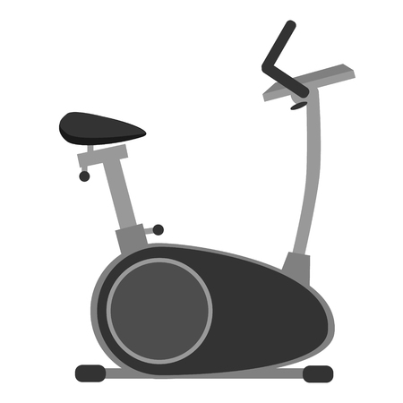 Gray exercise bicycle