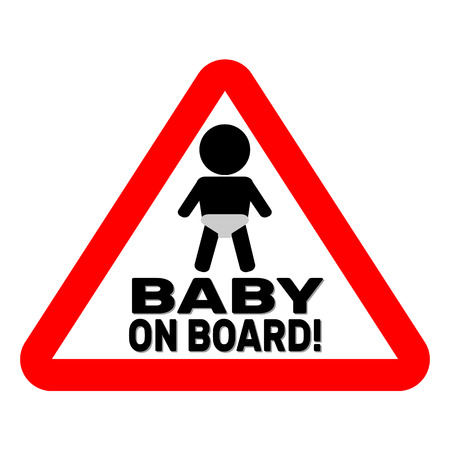 bebe a bordo: Bebé en la Muestra de la tarjeta
