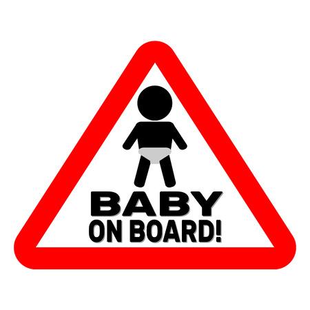 Baby on board sign Illustration