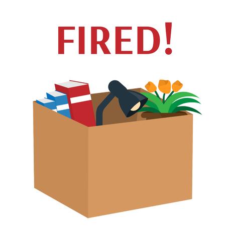 Box dismissed employee Illustration