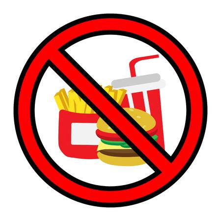 no fastfood sign