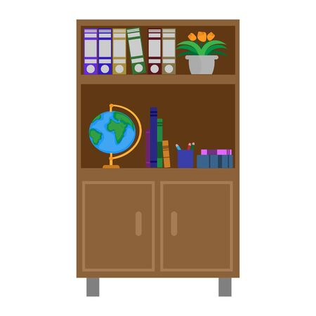 Office bookcase isolated