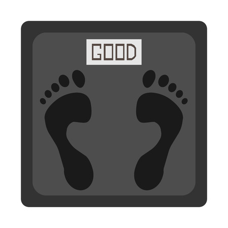 Scale with footprints Illustration