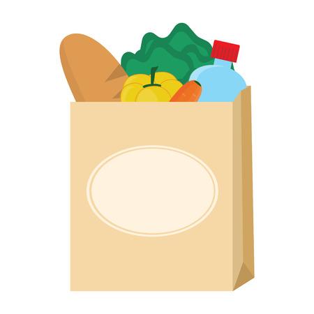 Food in paper bag Illustration