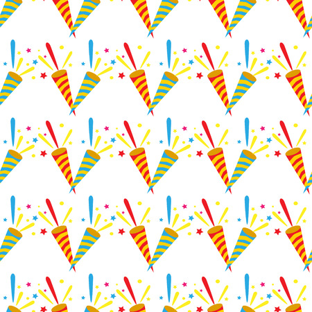 Party horn pattern Illustration