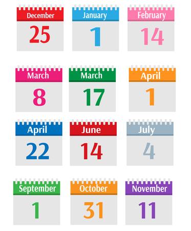 holidays: Holidays calendar set