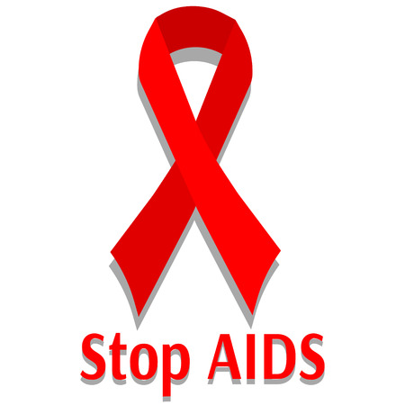 deficiency: Stop AIDS red sign