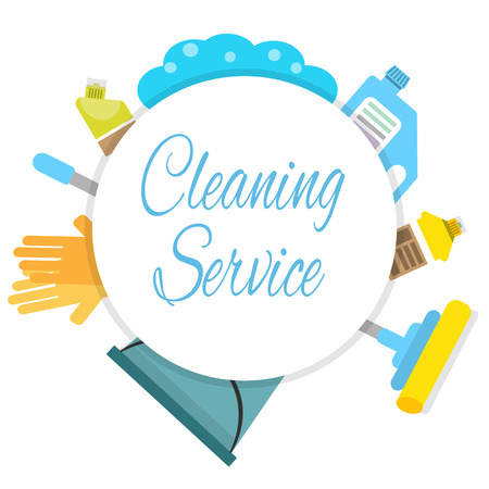 Cleaning company logo concept Illustration