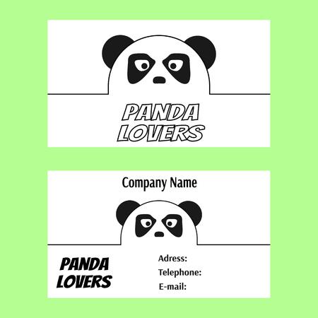 business card: Panda lovers business card Illustration