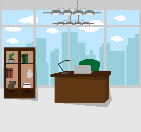 Eenvoudig kantoorinterieur Stock Illustratie