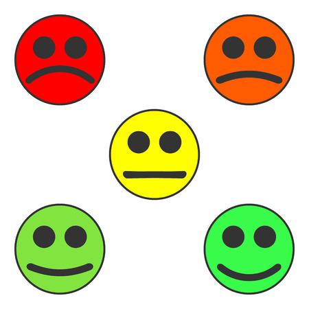 Smal kleurrijke lach set