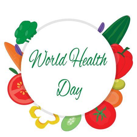 Wereldgezondheidsdag. Logo met groenten
