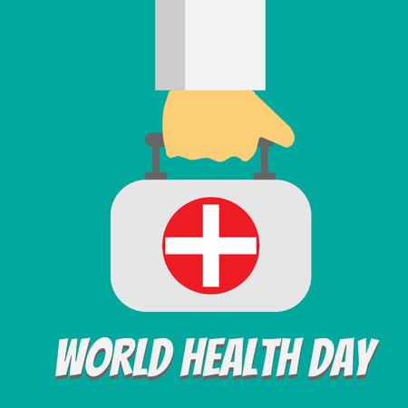 Wereldgezondheidsdag vectorillustratie Stock Illustratie