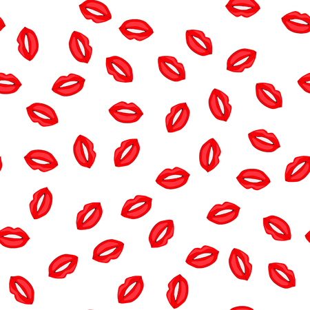 Red lips seamless background