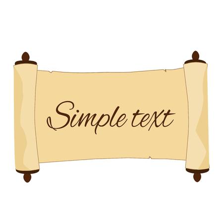 Oude scroll met eenvoudige tekst