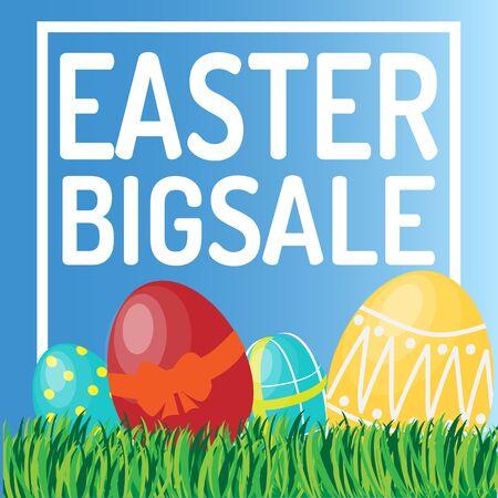 Grote de verkoopbanner van Pasen