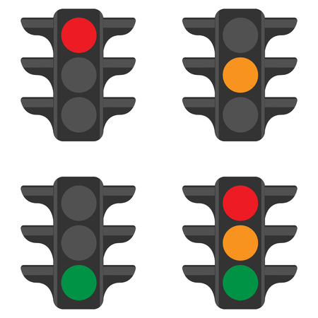 Geïsoleerde verkeerslicht set