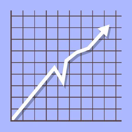 Grafiek inkomenspijl groeiende grafiek. Stock Illustratie