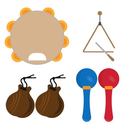 Kleine set van verschillende muziekinstrumenten Stock Illustratie