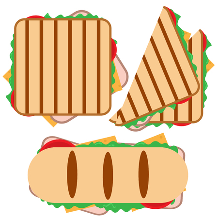 Kleine set gegrilde sandwich