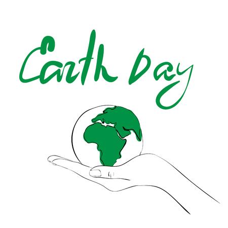 Hand teken concept voor de Aarde Dag Stock Illustratie