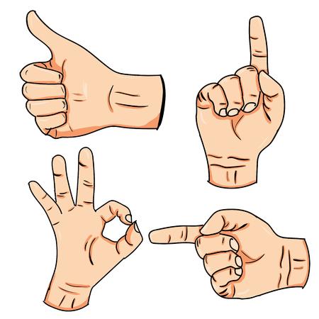 Kleine set hand tekenen handen