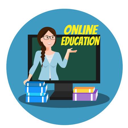 Online onderwijs banner concept Stock Illustratie