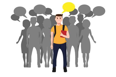 Communautair concept met leider Stock Illustratie
