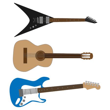 Verschillende gitaren