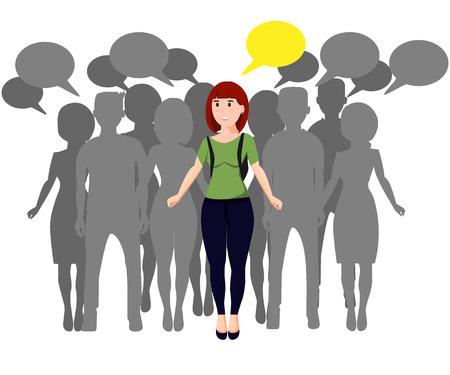 Gemeenschapsconcept met vrouwelijke leider