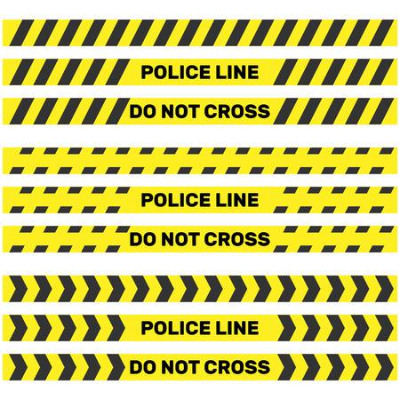 Politie lijn geïsoleerd. Vector illustratie Stock Illustratie