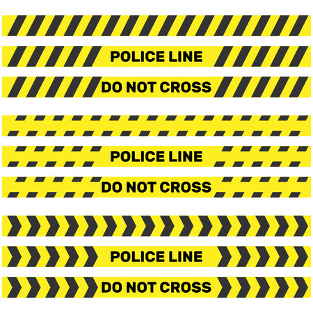 Police line isolated. Vector illustration Illustration